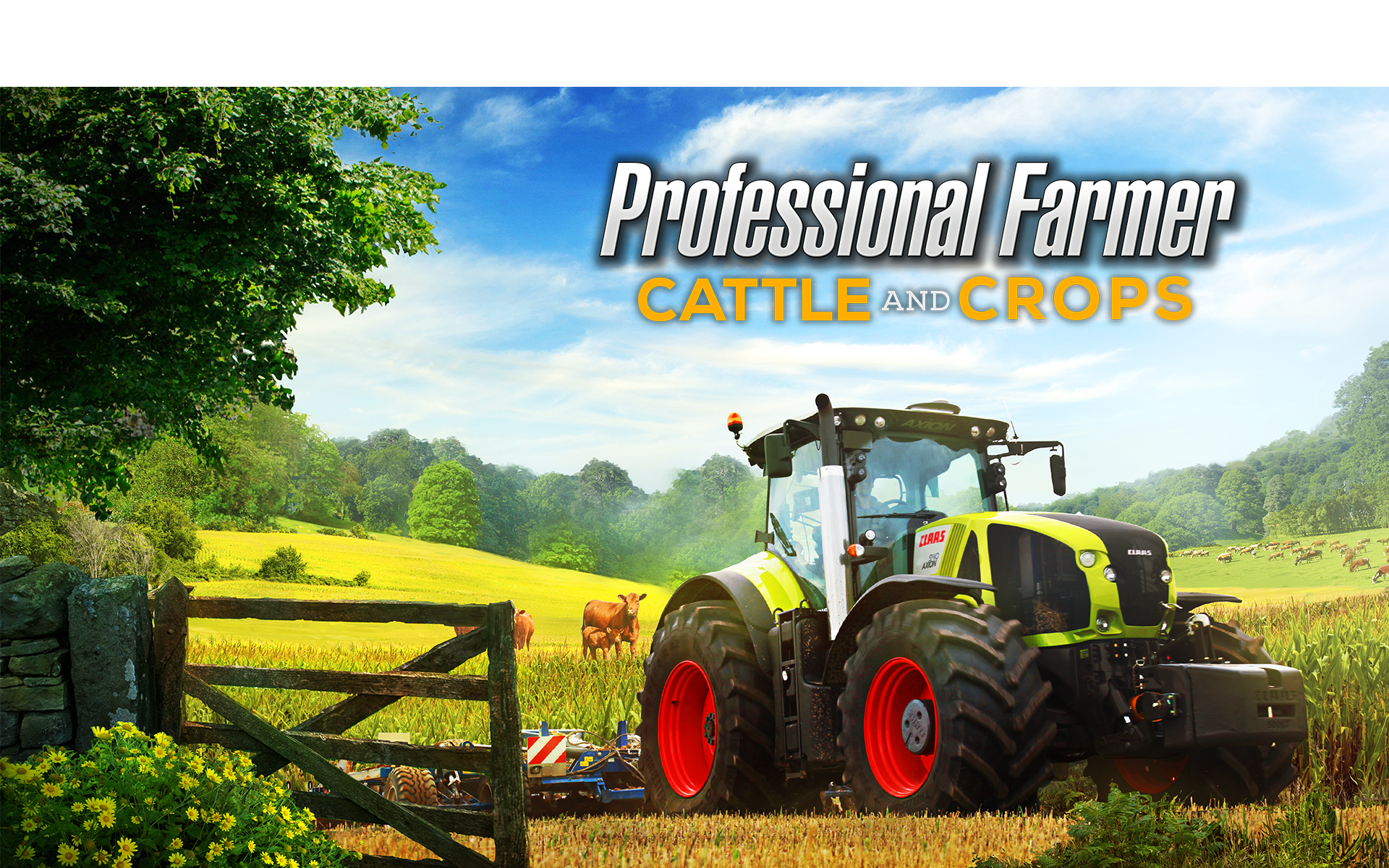 Professional farmer cattle and crops